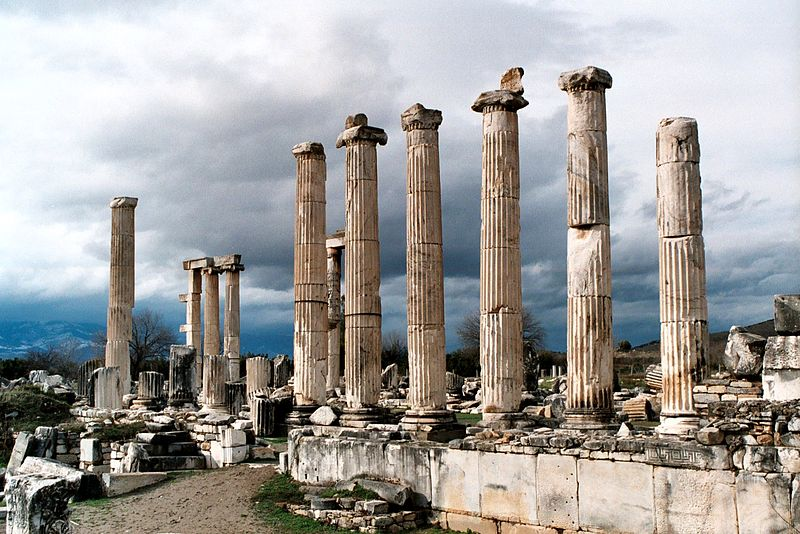 Aphrodisias, the Temple of Aphrodite, shot in 2004. Photo credit - Dguendel